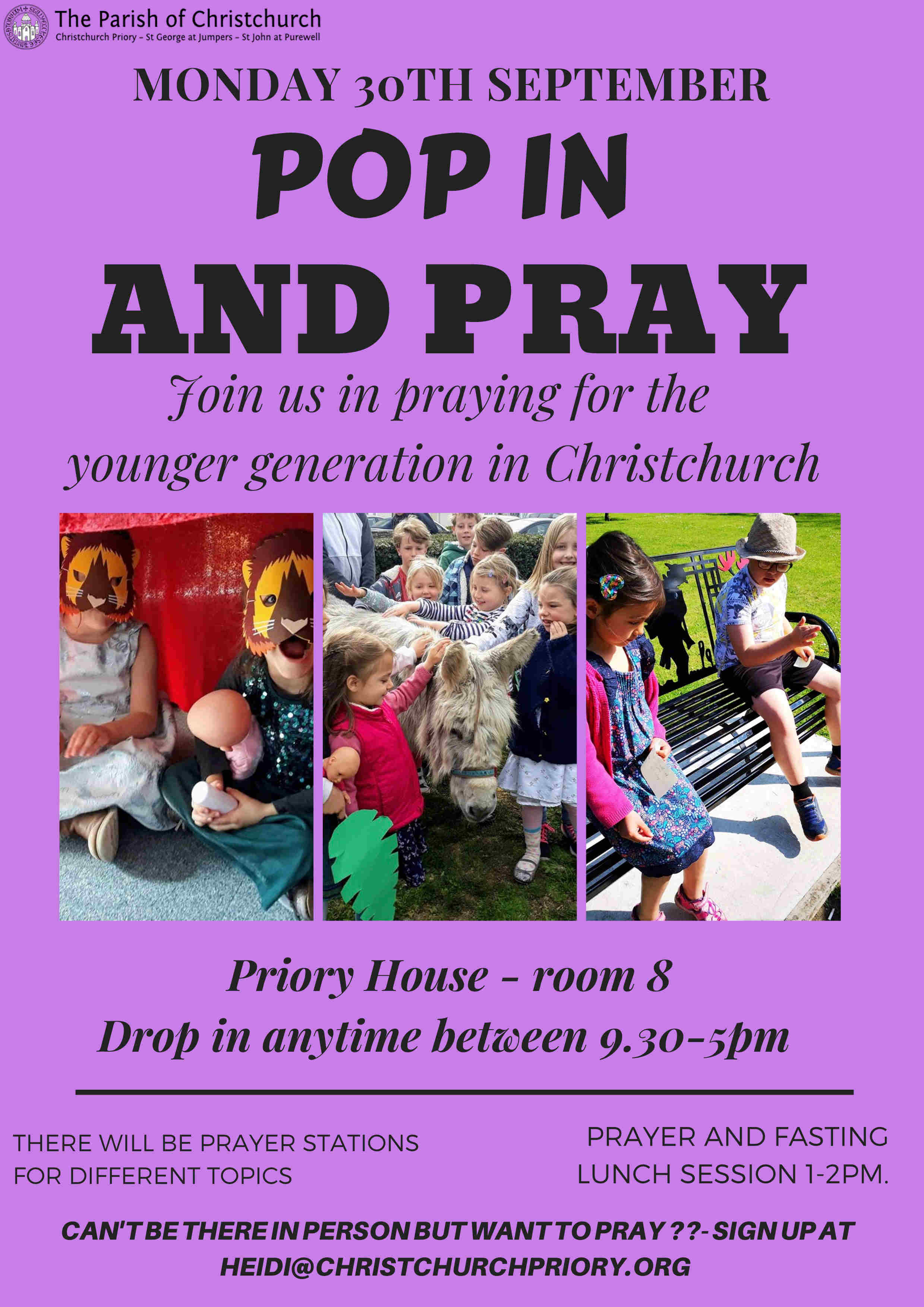 Pop in to Pray poster
